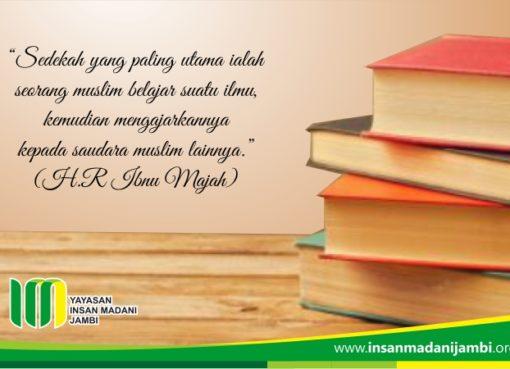 sedekah utama sedekah ilmu