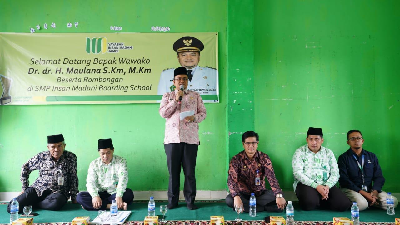 wakil walikota kunjungi insan madani
